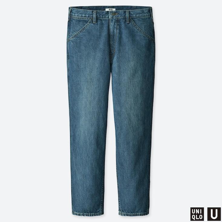 MEN U WIDE-FIT TAPERED JEANS, BLUE, large