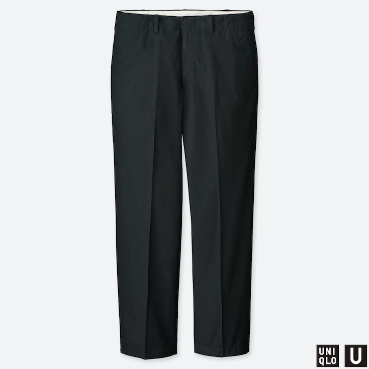 MEN U REGULAR-FIT ANKLE PANTS, BLACK, large