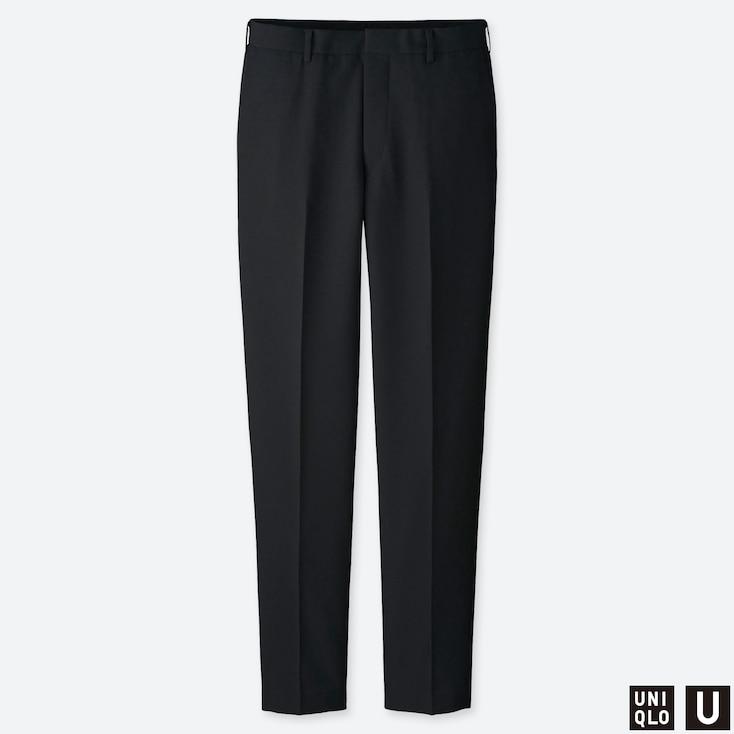 MEN U WIDE-FIT PANTS, BLACK, large