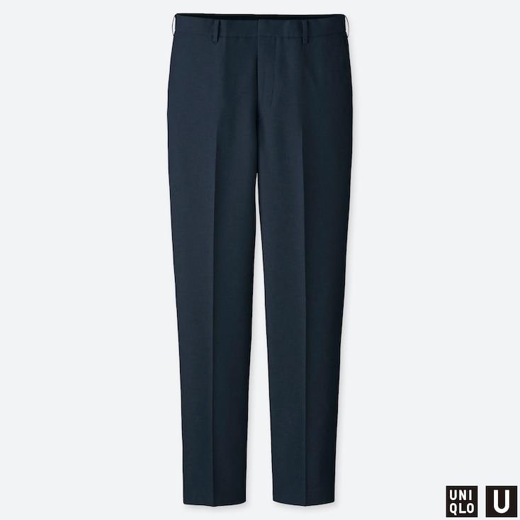MEN U WIDE-FIT PANTS, NAVY, large