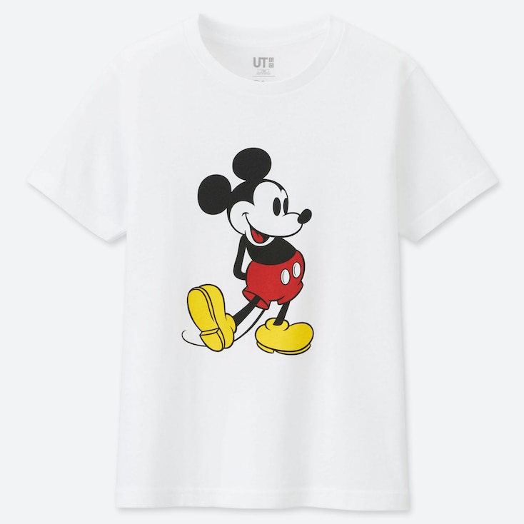 KIDS MICKEY STANDS UT (SHORT-SLEEVE GRAPHIC T-SHIRT), WHITE, large