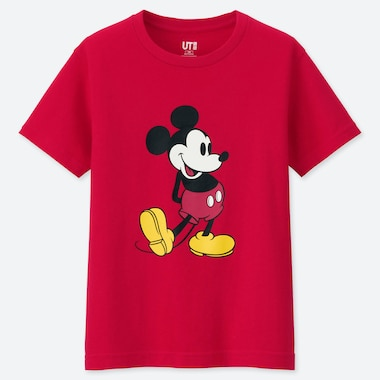 KIDS MICKEY STANDS UT (SHORT-SLEEVE GRAPHIC T-SHIRT), RED, medium
