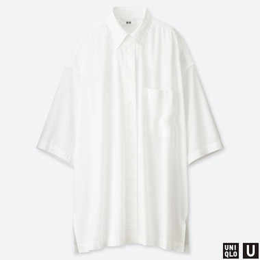 WOMEN UNIQLO U BEACH COVER UP SHIRT DRESS