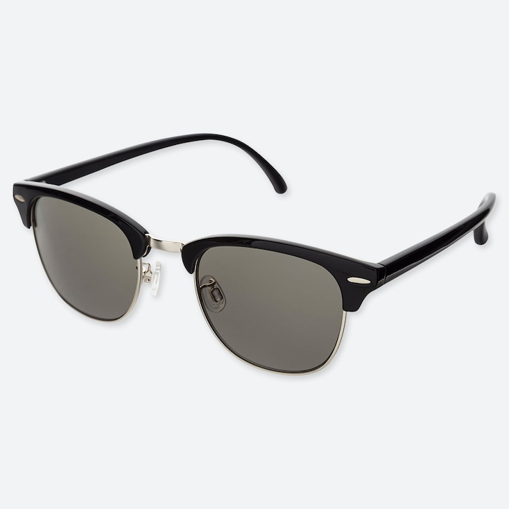 Brow Line Sunglasses, Black, Large