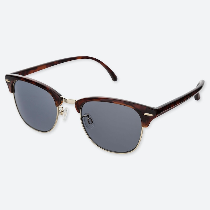 BROW LINE SUNGLASSES, BROWN, large