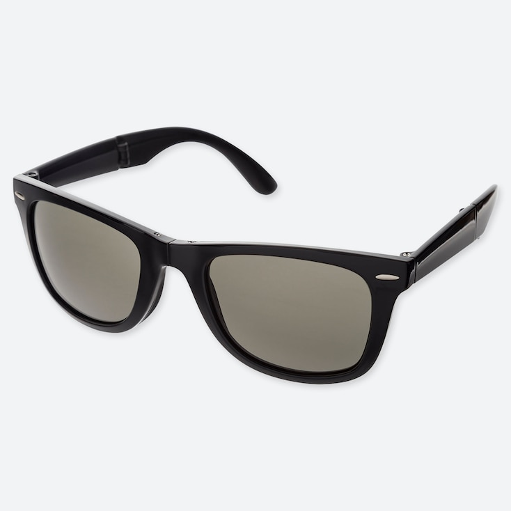 WELLINGTON FOLDING SUNGLASSES, BLACK, large