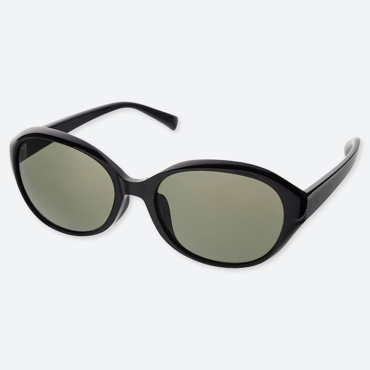 OVAL SUNGLASSES, BLACK, large