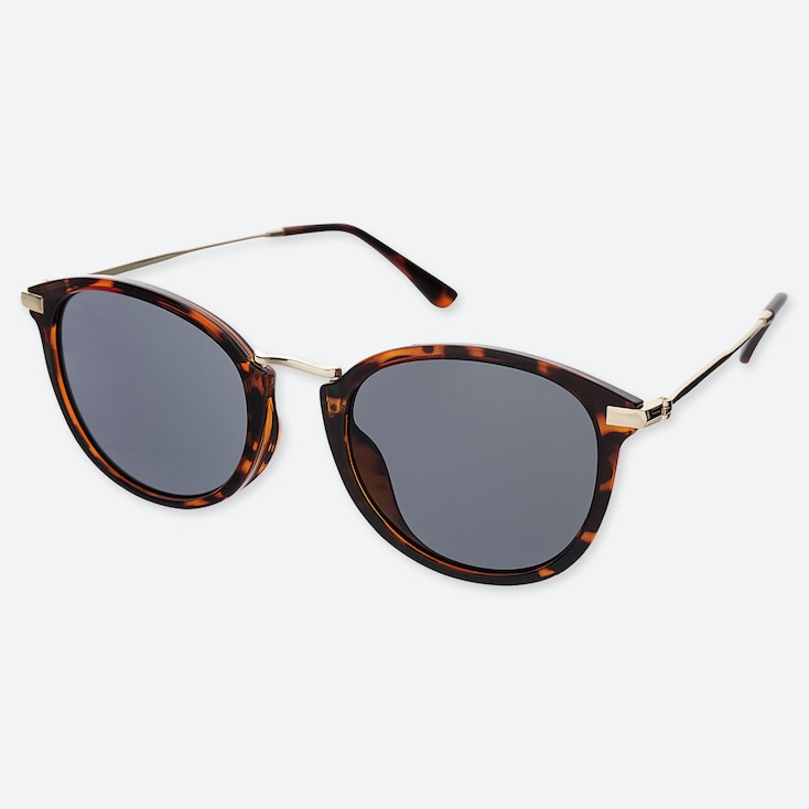 METAL COMBINATION SUNGLASSES, BROWN, large