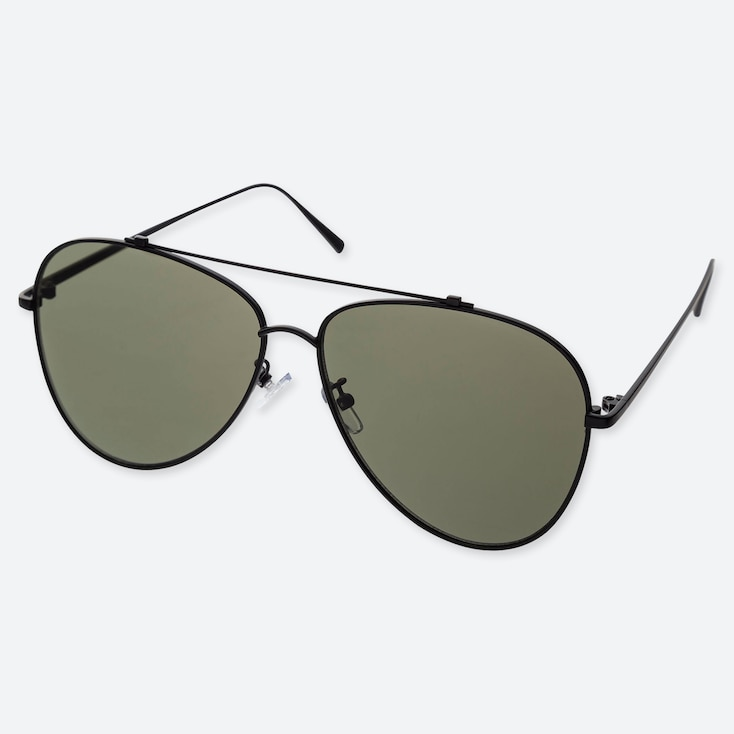 AVIATOR SUNGLASSES, DARK GRAY, large