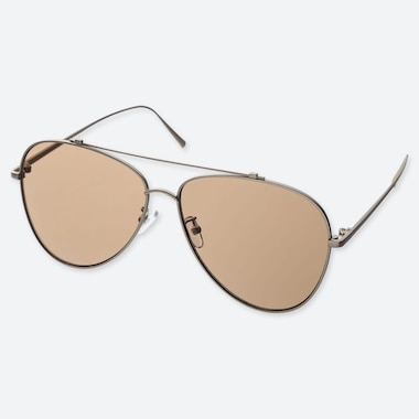 Aviator Sunglasses, Brown, Medium