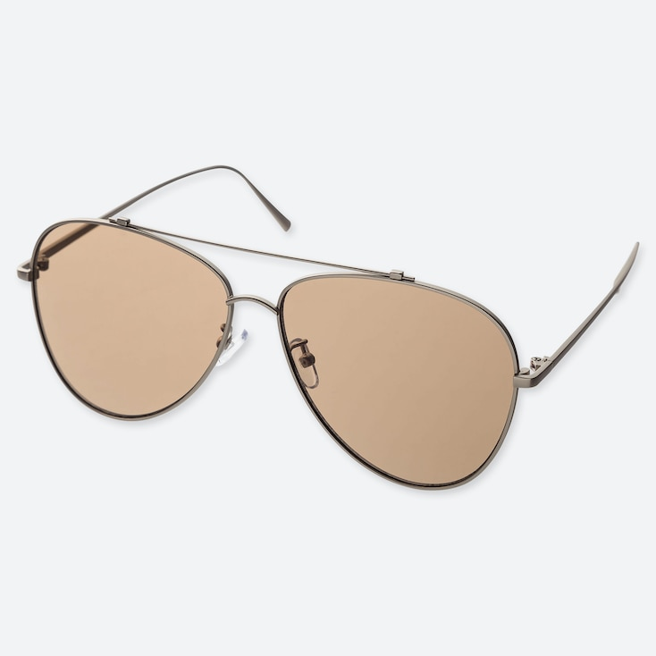 Teardrop Sunglasses, Brown, Large