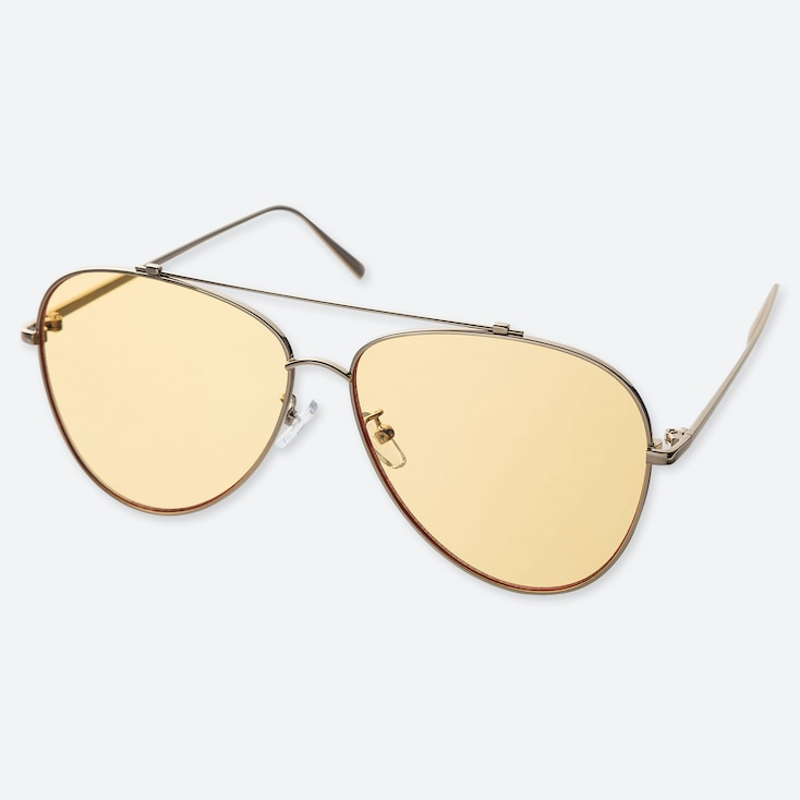 Teardrop Sunglasses, Yellow, Large