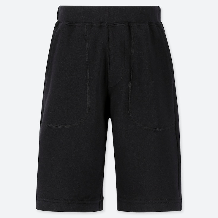 BOYS JERSEY EASY SHORTS, BLACK, large