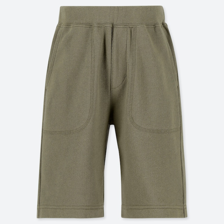 BOYS JERSEY EASY SHORTS, OLIVE, large