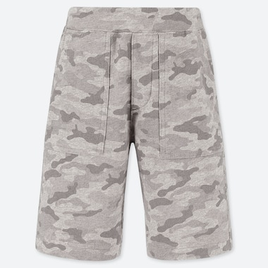 BOYS EASY JERSEY CAMOUFLAGE PRINT SHORTS