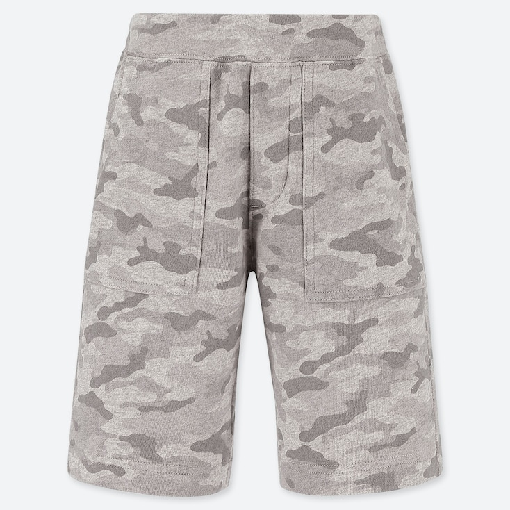 BOYS JERSEY EASY SHORTS, GRAY, large