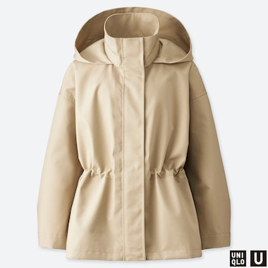 WOMEN U BLOCKTECH JACKET, BEIGE, medium