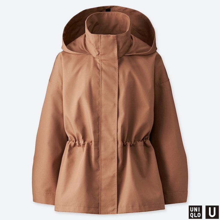 WOMEN U BLOCKTECH JACKET, BROWN, large
