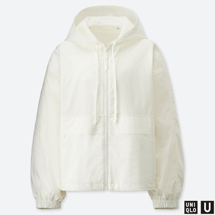 WOMEN U COTTON PARKA, OFF WHITE, large