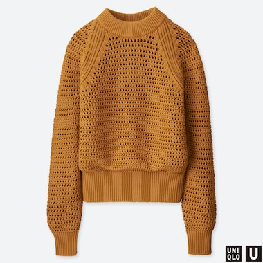 WOMEN UNIQLO U MESH OVERSIZED JUMPER
