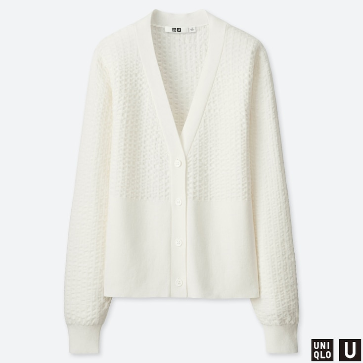 DAMEN UNIQLO U OVERSIZED-STRICKJACKE AUS BAUMWOLLE