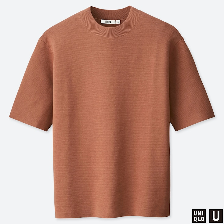 MEN U MILANO RIBBED RELAXED CREW NECK SWEATER, BROWN, large