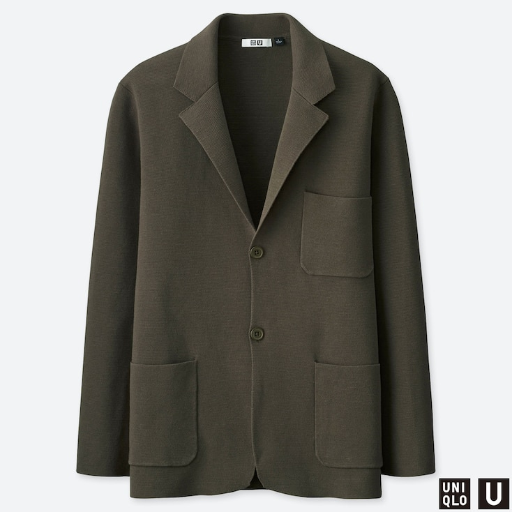 MEN U MILANO RIBBED JACKET, DARK GREEN, large