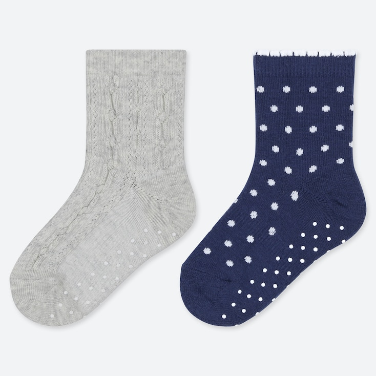 BABY SOCKS (2 PAIRS), LIGHT GRAY, large