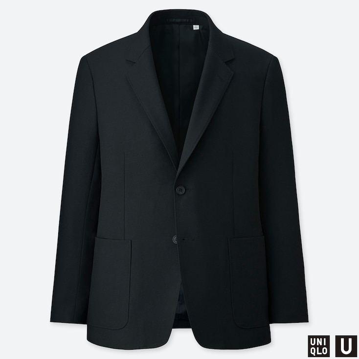 MEN U TAILORED JACKET, BLACK, large