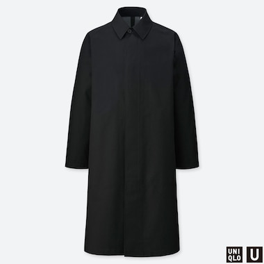 MEN UNIQLO U U BLOCKTECH SINGLE BREASTED COAT