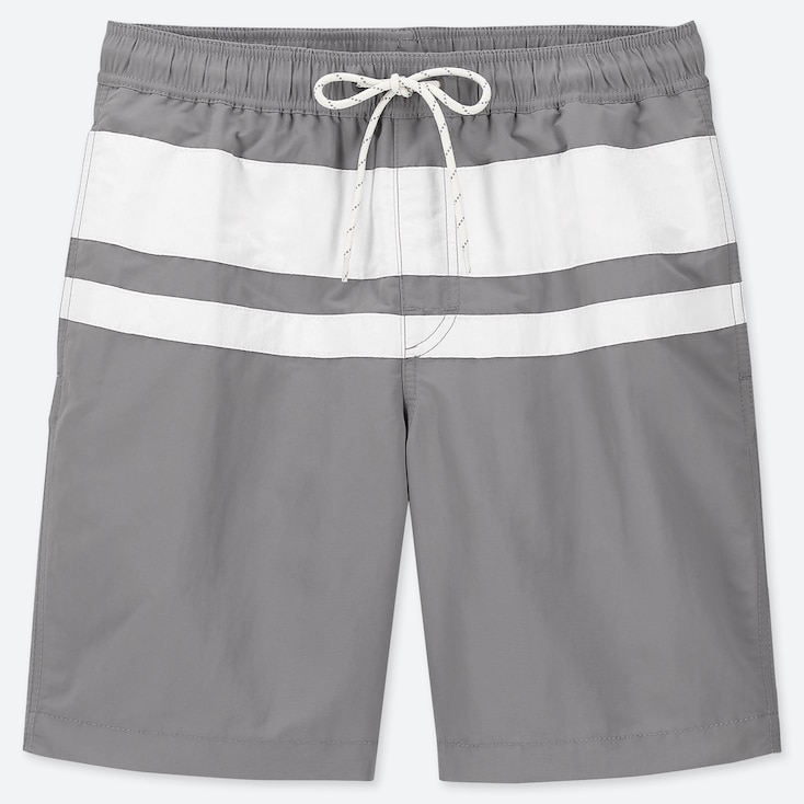 MEN SWIM ACTIVE SHORTS, GRAY, large