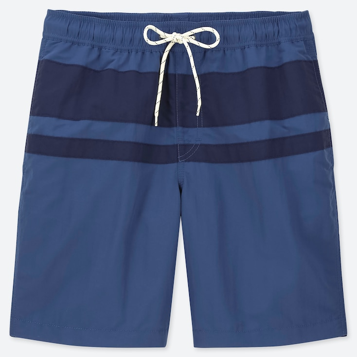 MEN SWIM ACTIVE SHORTS, BLUE, large