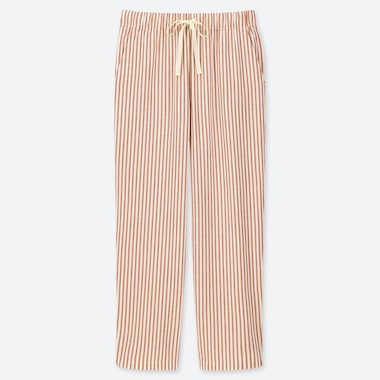 WOMEN RELAX STRIPED ANKLE LENGTH TROUSERS
