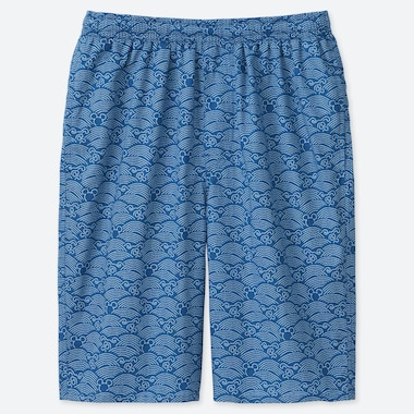 SHORT GRAPHIQUE COTON MICKEY BLUE HOMME