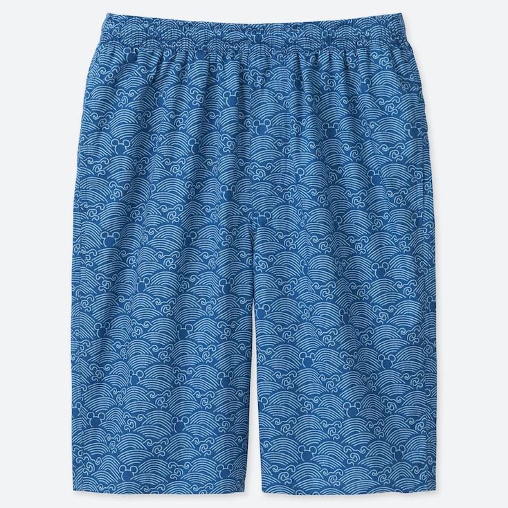 MEN MICKEY BLUE LIGHT COTTON EASY SHORTS, BLUE, large
