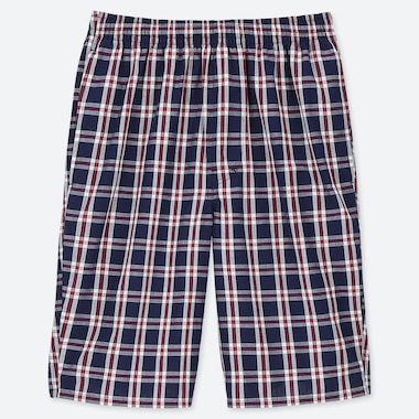 MEN EASY LIGHT COTTON CHECKED SHORTS