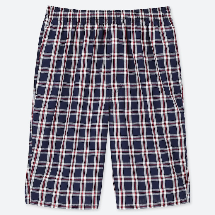 MEN LIGHT COTTON EASY SHORTS (ONLINE EXCLUSIVE), NAVY, large