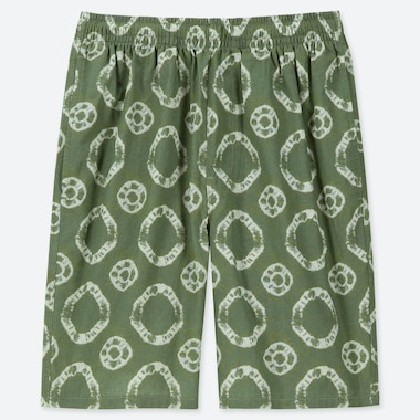 MEN LIGHT COTTON EASY SHORTS (ONLINE EXCLUSIVE), GREEN, medium