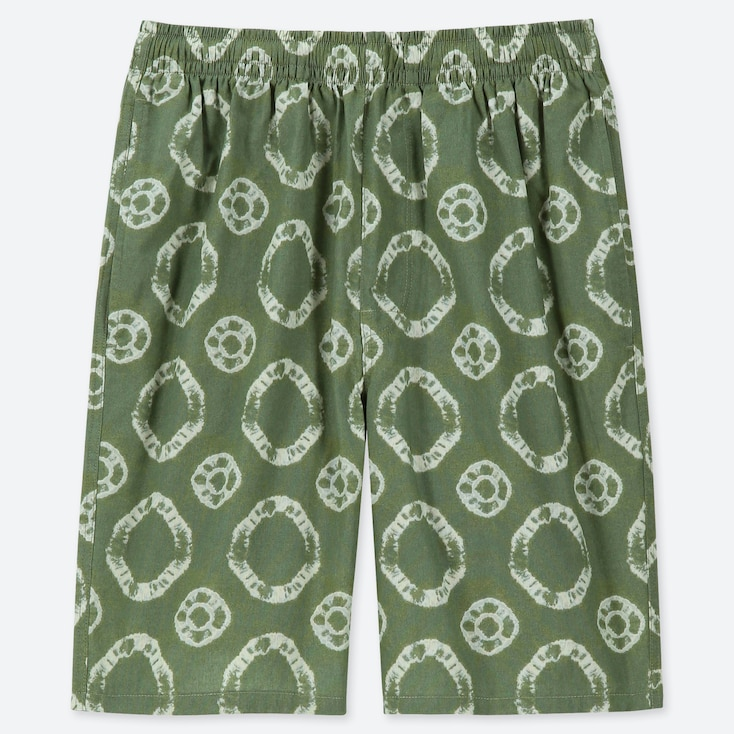 MEN LIGHT COTTON EASY SHORTS (ONLINE EXCLUSIVE), GREEN, large