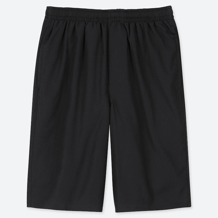 MEN LIGHT COTTON EASY SHORTS (ONLINE EXCLUSIVE), BLACK, large