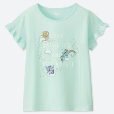 GIRLS MY LITTLE PONY UT (SHORT-SLEEVE GRAPHIC T-SHIRT), LIGHT GREEN, medium