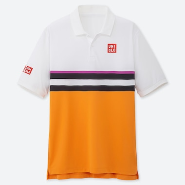 MEN DRY-EX POLO SHIRT (KEI NISHIKORI 19FRA), WHITE, medium