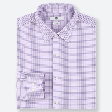 MEN EASY CARE STRETCH SLIM FIT CHECKED SHIRT (REGULAR COLLAR)
