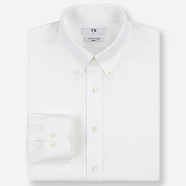 MEN SLIM FIT SUPER NON-IRON SHIRT (BUTTON-DOWN COLLAR)