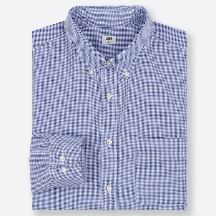 MEN EXTRA FINE COTTON BROADCLOTH CHECKED SHIRT (BUTTON-DOWN COLLAR)