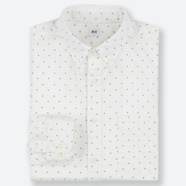 CAMICIA UOMO IN POPELINE DI COTONE CON STAMPA (COLLETTO BUTTON-DOWN)