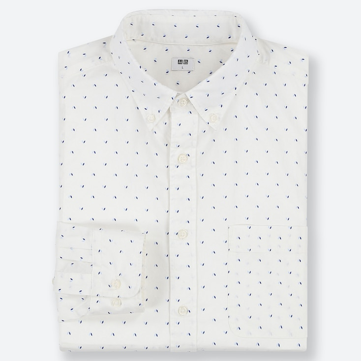 MEN EXTRA FINE COTTON BROADCLOTH PRINT SHIRT (BUTTON-DOWN COLLAR)