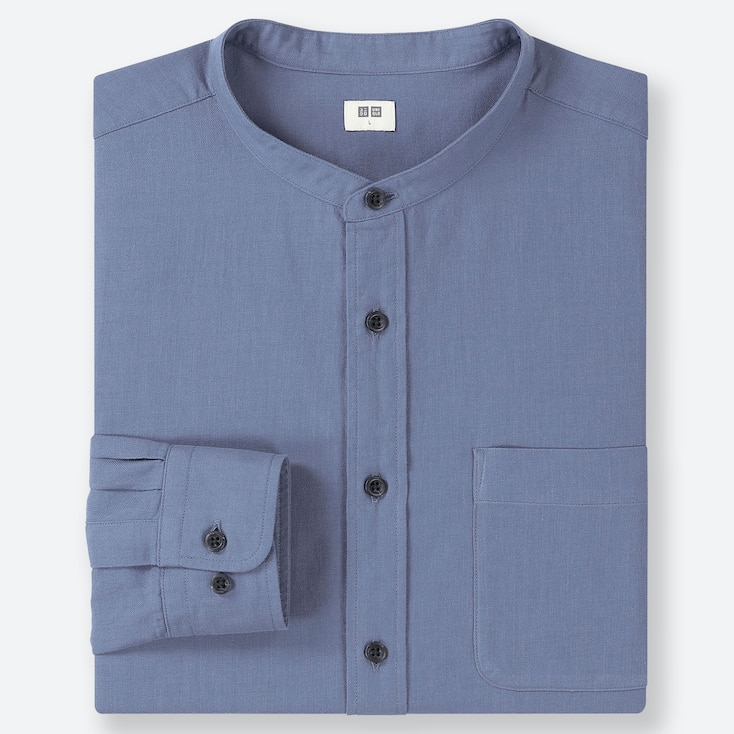 MEN SOFT TWILL SHIRT (STAND COLLAR)