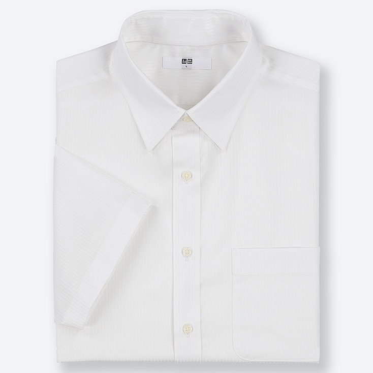MEN DRY EASY CARE DOBBY SHORT-SLEEVE SHIRT (ONLINE EXCLUSIVE), WHITE, large