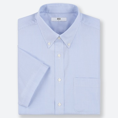 MEN DRY EASY CARE DOBBY SHORT-SLEEVE SHIRT (ONLINE EXCLUSIVE), BLUE, medium